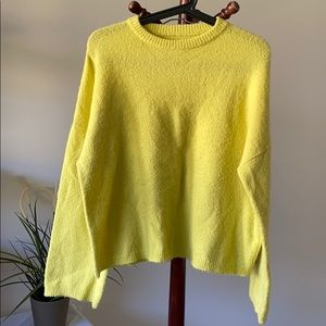Oak and fort yellow relax fit sweater XS